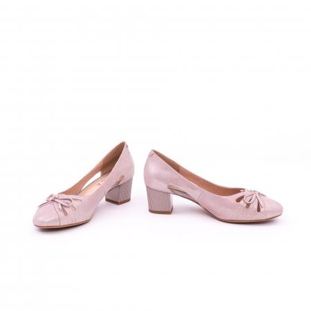Pantofi dama decupati piele naturala Epica jyh363, nude5