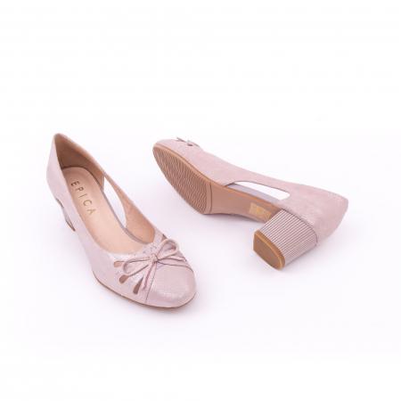 Pantofi dama decupati piele naturala Epica jyh363, nude3