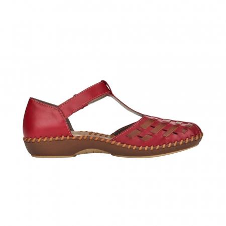 Pantofi decupati dama din piele naturala, M1658-336
