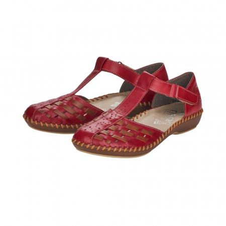 Pantofi decupati dama din piele naturala, M1658-335