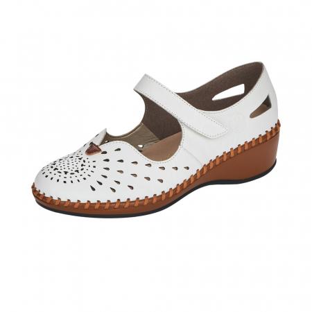 Pantofi decupati dama din piele naturala, N1657-800