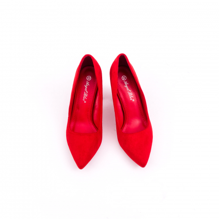 Pantof elegant 659 rosu5
