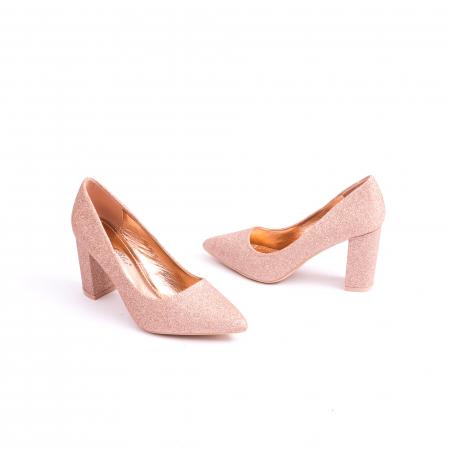 Pantof elegant 660 auriu-roze3