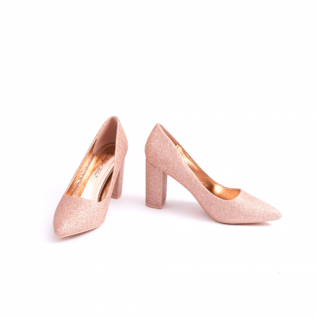 Pantof elegant 660 auriu-roze4