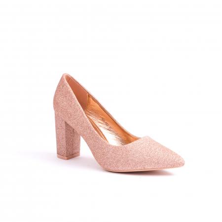 Pantof elegant 660 auriu-roze0