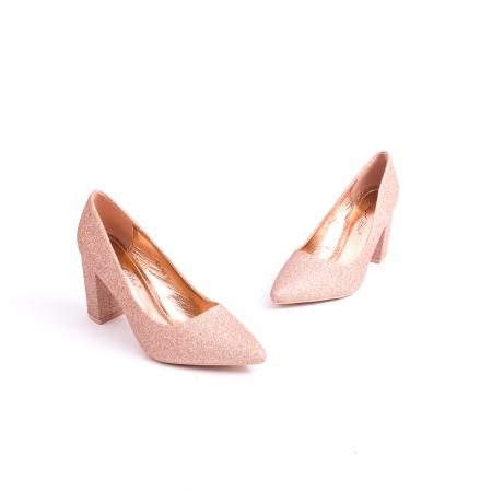 Pantof elegant 660 auriu-roze1