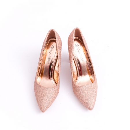 Pantof elegant 660 auriu-roze5