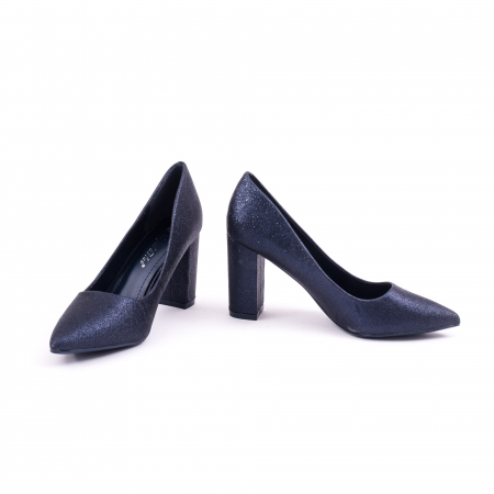 Pantof elegant 660 bleumarin glitter4