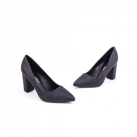 Pantof elegant 660 negru glitter1