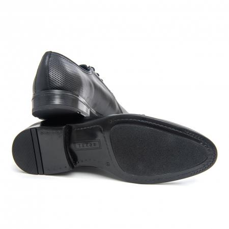 Pantofi barbati eleganti Leofex 743 piele naturala, negru3