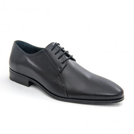 Pantofi barbati eleganti Leofex 743 piele naturala, negru0