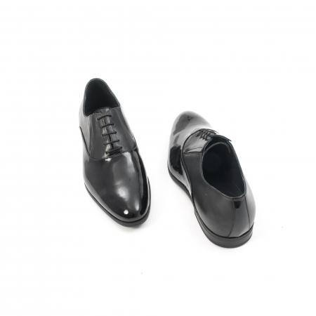 Pantof elegant barbat LFX 526 negru box cu lac.2