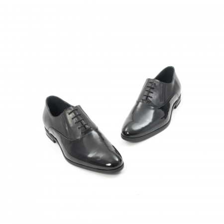 Pantof elegant barbat LFX 526 negru box cu lac.1