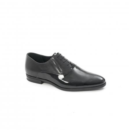 Pantof elegant barbat LFX 526 negru box cu lac.0