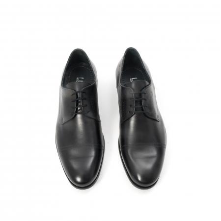 Pantofi barbati eleganti, piele naturala , Leofex 932, negru5