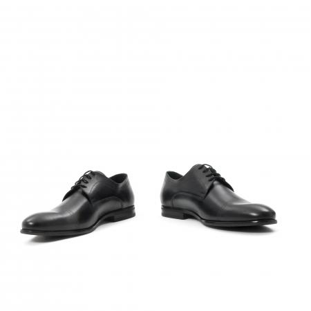 Pantofi barbati eleganti, piele naturala , Leofex 932, negru4