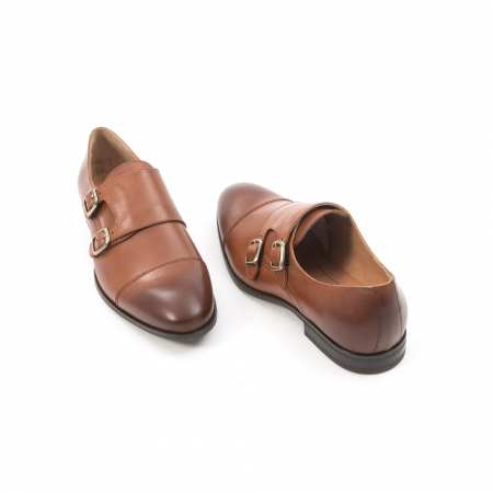 Pantofi barbati eleganti piele naturala Leofex 933, coniac2