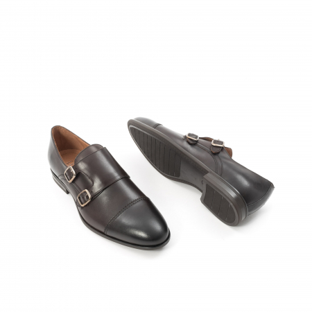 Pantofi barbati eleganti piele naturala Leofex 933, visiniu3