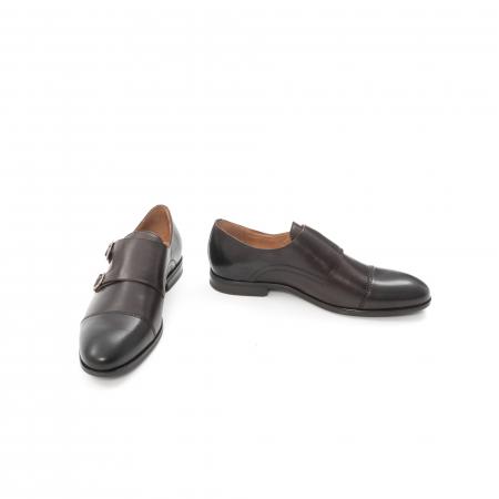Pantofi barbati eleganti piele naturala Leofex 933, visiniu4