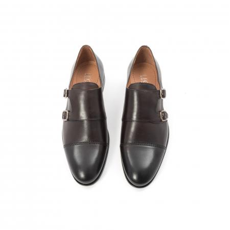 Pantofi barbati eleganti piele naturala Leofex 933, visiniu5