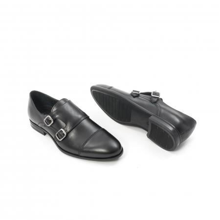 Pantofi barbati eleganti piele naturala Leofex 933, negru3