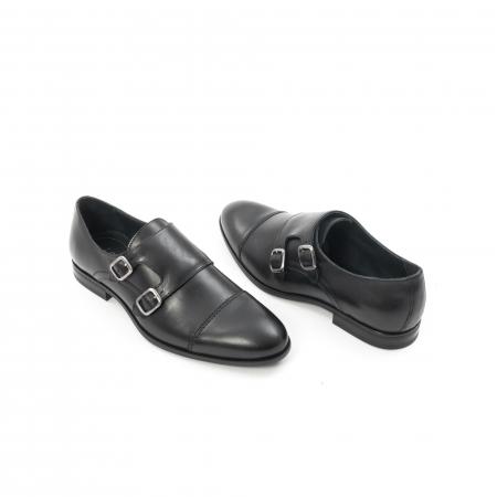 Pantofi barbati eleganti piele naturala Leofex 933, negru2