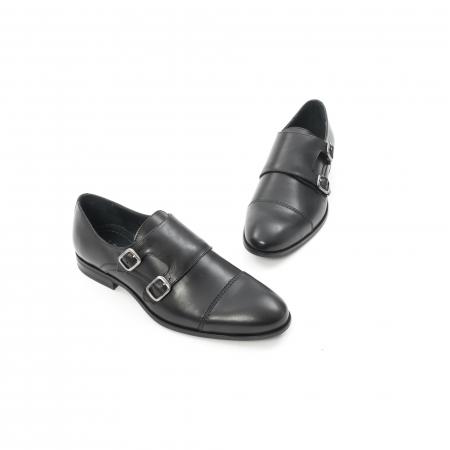 Pantofi barbati eleganti piele naturala Leofex 933, negru1