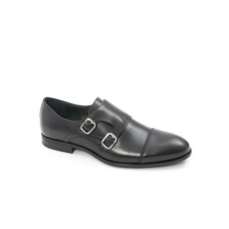 Pantofi barbati eleganti piele naturala Leofex 933, negru0