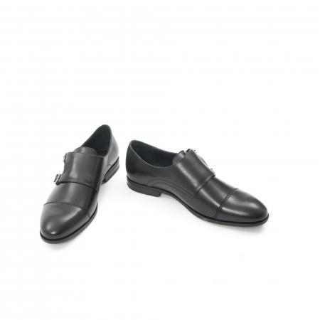 Pantofi barbati eleganti piele naturala Leofex 933, negru4