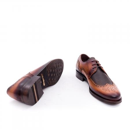 Pantofi barbati eleganti piele naturala Otter YE185, maro3