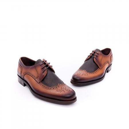 Pantofi barbati eleganti piele naturala Otter YE185, maro1