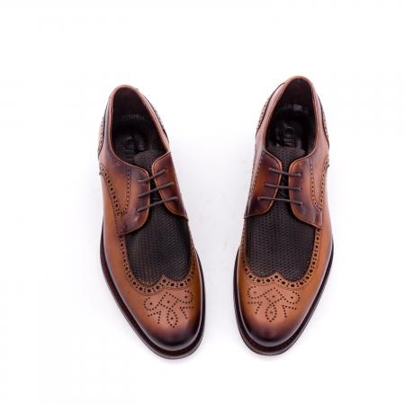 Pantofi barbati eleganti piele naturala Otter YE185, maro4
