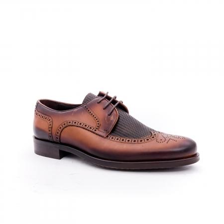 Pantofi barbati eleganti piele naturala Otter YE185, maro0