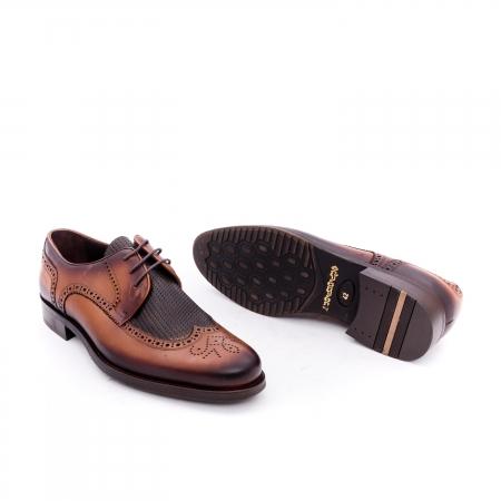 Pantofi barbati eleganti piele naturala Otter YE185, maro2