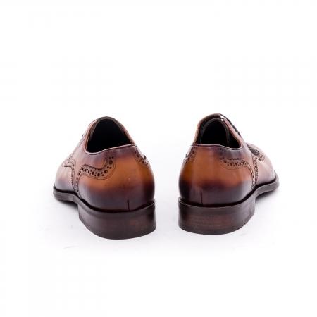 Pantofi barbati eleganti piele naturala Otter YE185, maro5