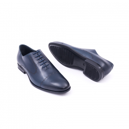 Pantof elegant barbati LFX 934 bleumarin2