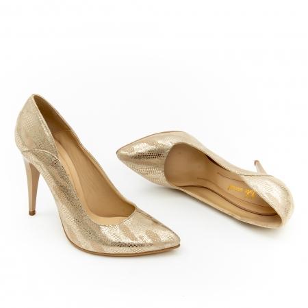 Pantof elegant dama 1106 auriu1