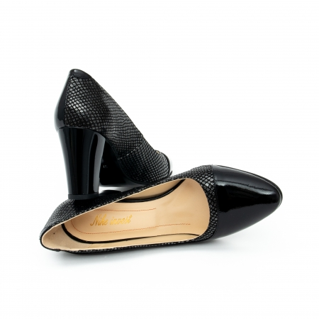 Pantof elegant dama cod 1012 negru lac2