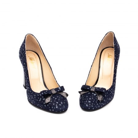 Pantof elegant dama -cod 1110 BGE  bleumarin glitter4