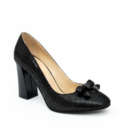 Pantof elegant dama -cod 1110 negru  glitter0