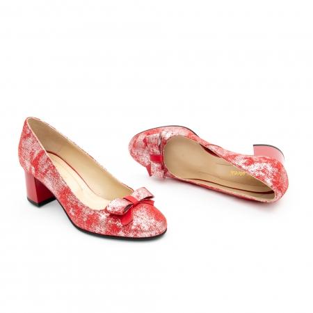 Pantof elegant dama -cod 1111 rosu3