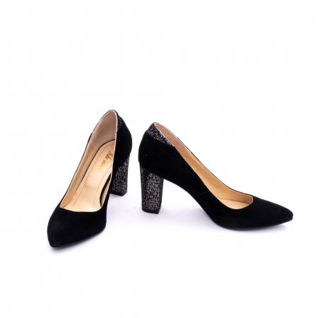 Pantof elegant dama marca Nike Invest 1167 negru argintiu3