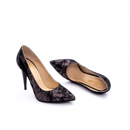 Pantof elegant dama marca Nike Invest 1167 negru argintiu2