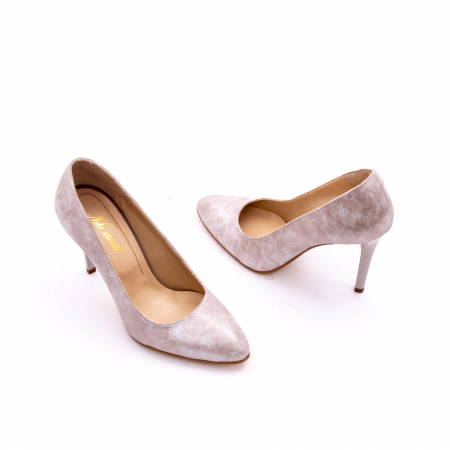 Pantof elegant dama marca Nike Invest 1171 bej argintiu1