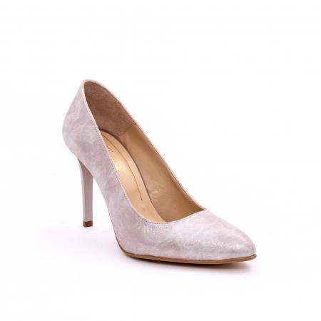 Pantof elegant dama marca Nike Invest 1171 bej argintiu0