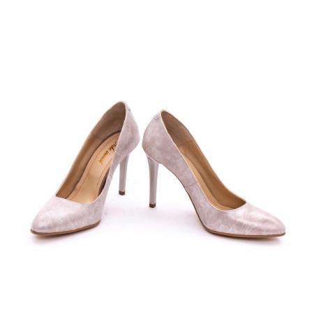 Pantof elegant dama marca Nike Invest 1171 bej argintiu3