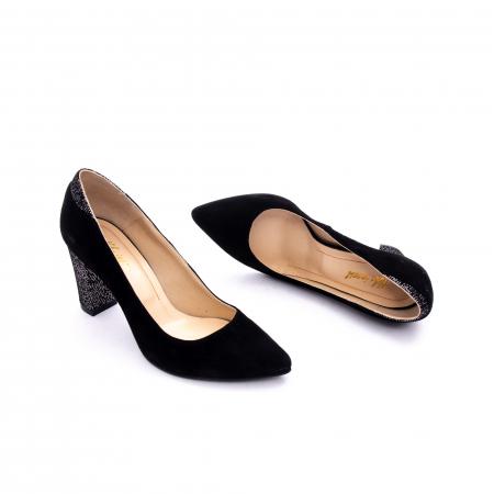 Pantof elegant dama marca Nike Invest 1197 negru velur2