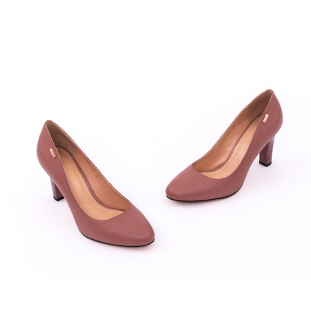 Pantofi dama eleganti, piele naturala, Epica 0305-C200A, roz prafuit inchis6