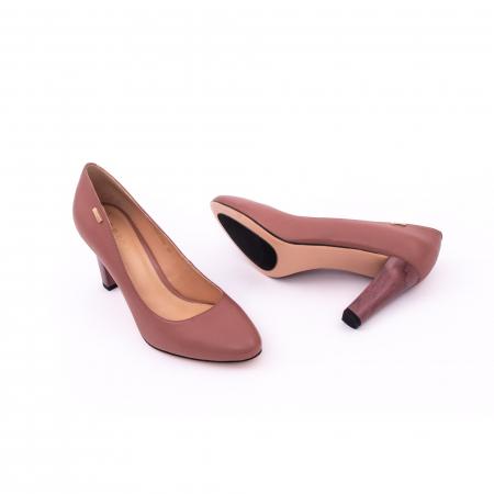 Pantofi dama eleganti, piele naturala, Epica 0305-C200A, roz prafuit inchis1