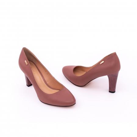 Pantofi dama eleganti, piele naturala, Epica 0305-C200A, roz prafuit inchis2